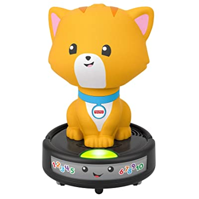 Fisher-Price Laugh & Learn Crawl-After Cat on a Vac, Musical Baby Toy: Toys & Games