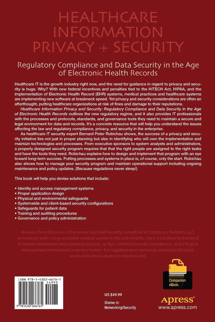 Healthcare Information Privacy and Security: Regulatory