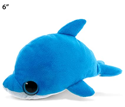 Amazon Com Puzzled Big Eye Dolphin Plush 6 Toys Games