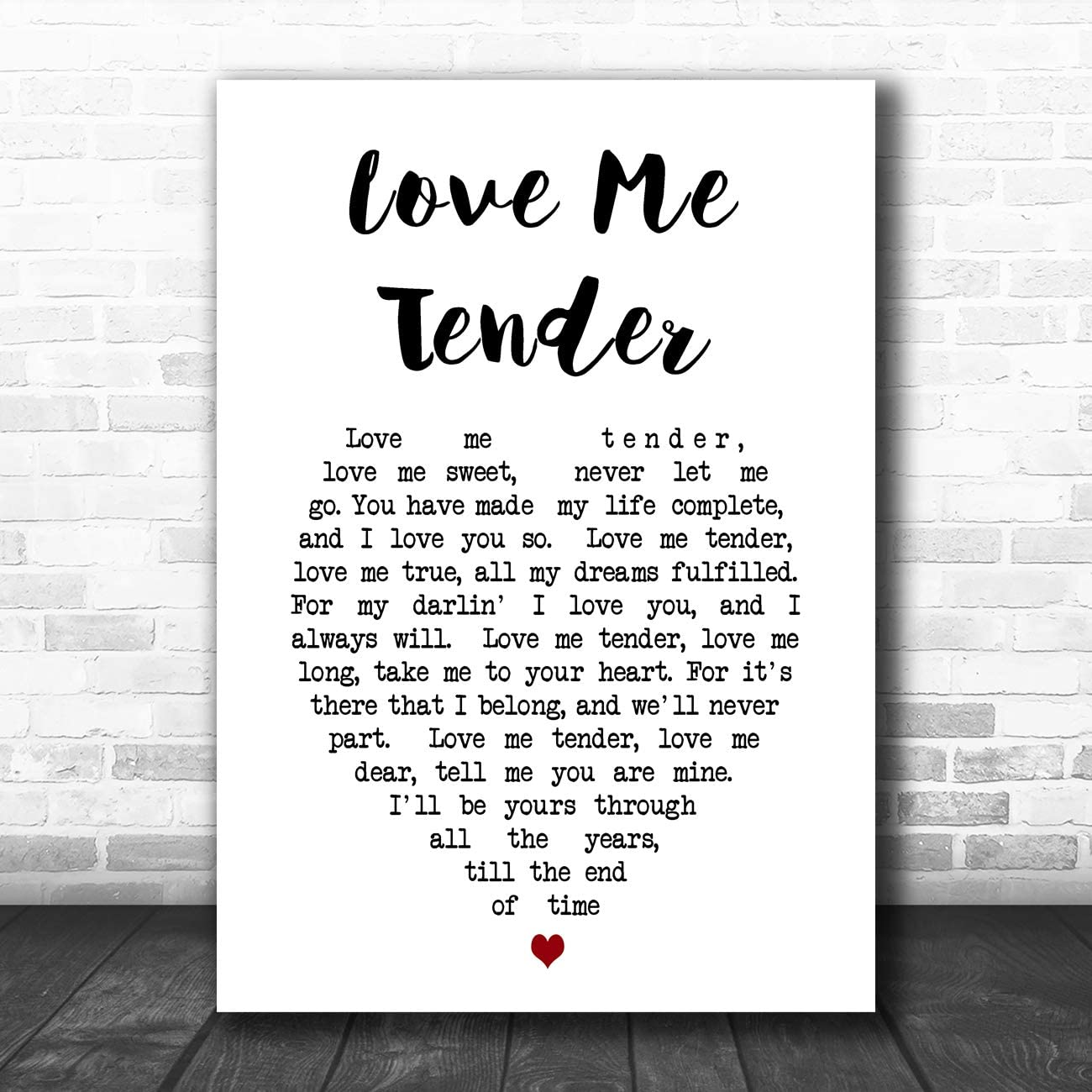 LOVE YOU TILL THE END cœur chanson Lyrique Citation Imprimé
