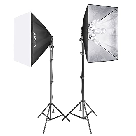 Neewer 1900 W Photography Studio Softbox Lighting Kit: (2) 79 Inches Light Stand, (10) 45 W Light Bulb, (2) 5 Socket Light Holder, (2) 20x27 Inches Soft Box For Portrait Video Shooting by Neewer