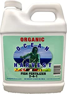 Fish Fertilizer from Ocean Harvest | Organic Plant Food Made from Fish Hydrolysate | Organic Fertilizer for Vegetables | 1 QT