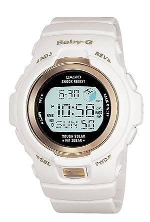 a1ecddffd7 Casio Women's BGR300-7 Baby-G White Tough Solar Power Digital Watch