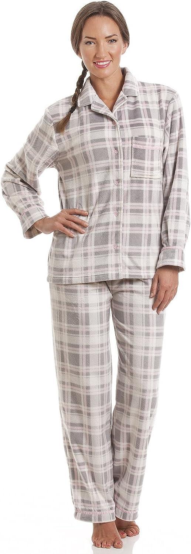 Gris para Mujer Pijama a Cuadros con Estampado de Lana