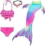 Kokowaii Fancy Girls Swimming Mermaid Kids Mermaid Tails for Swimming Girls