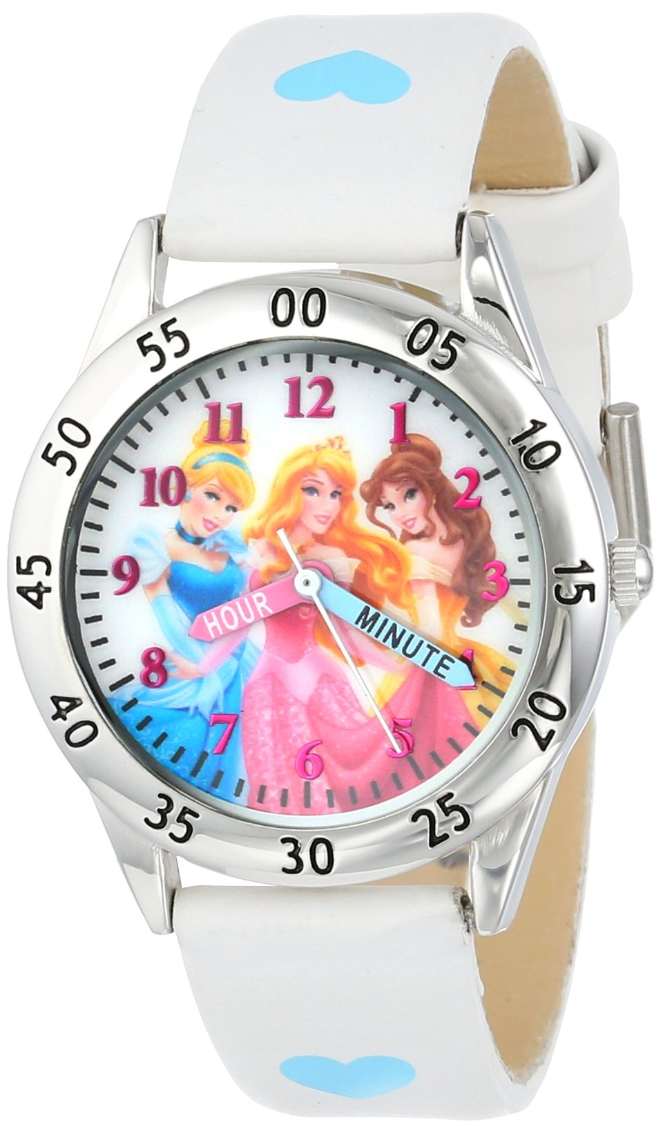 Disney Kids' PN1172 Princess Watch with White Band