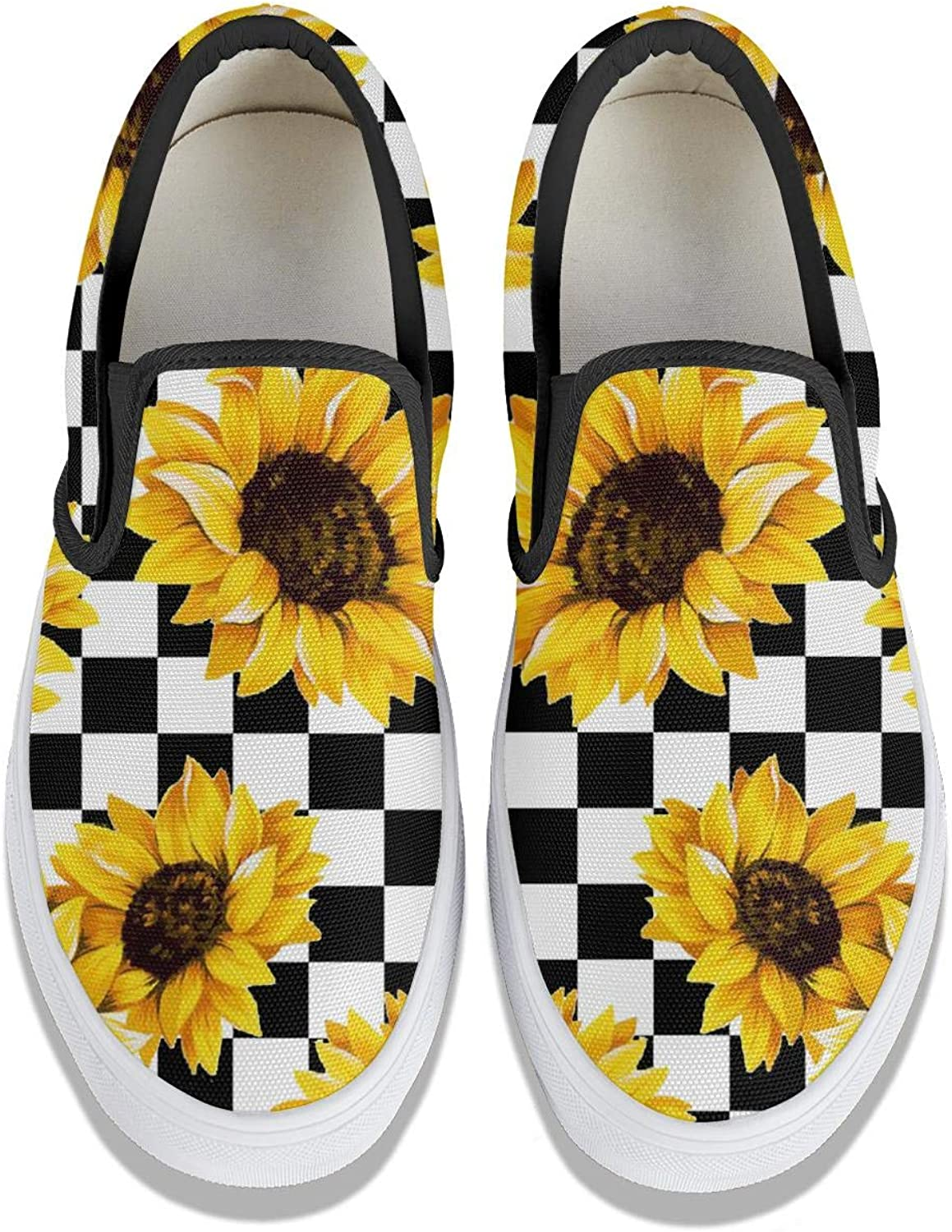 Field of Sunflowers Classic Canvas Shoes Skate Sneakers Women Fashion Print Original Durable