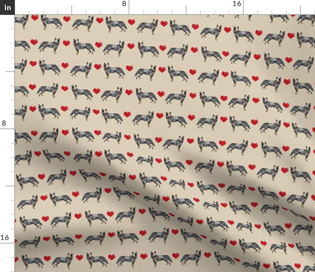 Sport Lycra Fabric Yard Sport Lycra Fabric Yard Australian Cattle Dog Fabric Cattle Dog Cattle Dogs bluee Heeler Dog Breed Dogs Hearts by Petfriendly Printed on Sport Lycra Fabric by The Yard