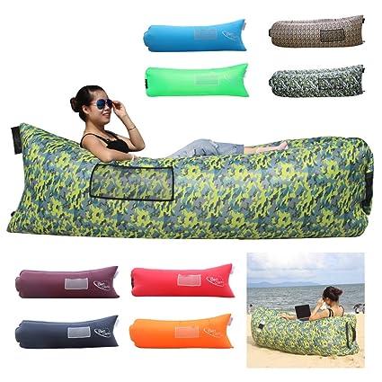 bonclare rápido tumbona, Camping cama de aire inflable playa sofá bolsa de aire Hangout portátil