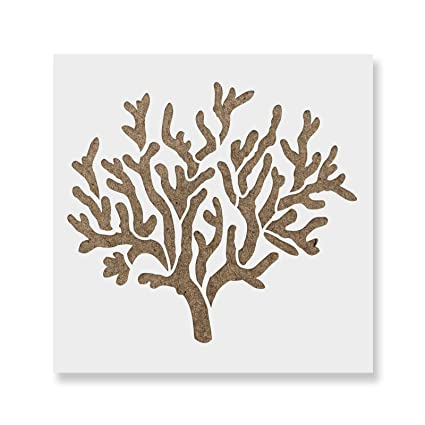 amazon com coral stencil template for walls and crafts reusable