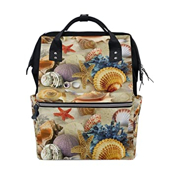 0ce5491f995e Amazon.com : MAPOLO Sea Style Sand Beach Starfish Seashell Diaper ...