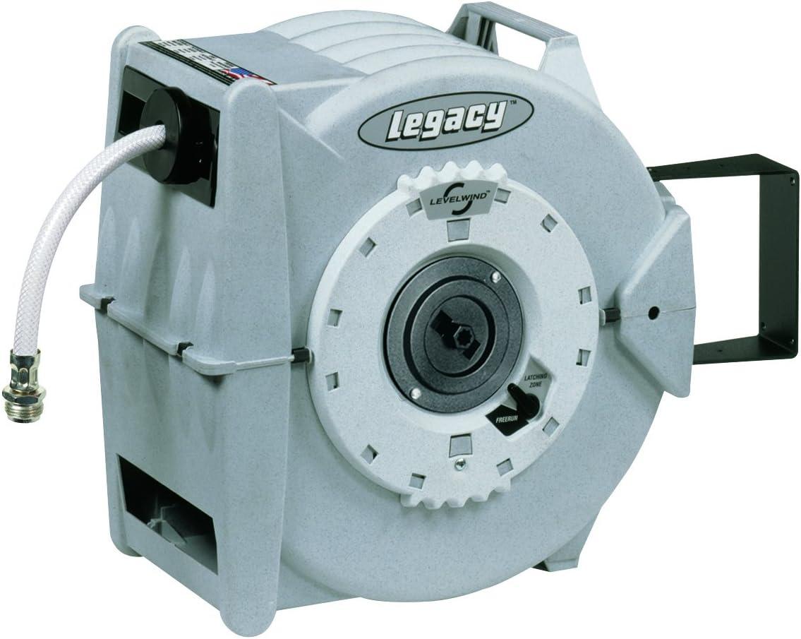 Legacy Levelwind Retractable Garden Hose Reel, 1/2 in. x 60 ft, PVC - L8345