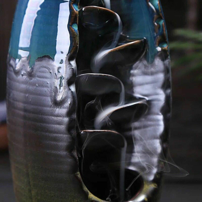 2019 Mountain River Handicraft Incense Holder Backflow Ceramic Burner Censer Holder by Beette (Image #5)