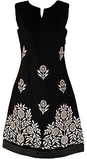 8f51cbdade Monsoon New ex Ladies Black Olive Green Embroidered Cotton Tunic Shift Dress