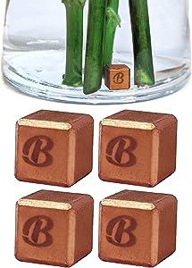 4 PCS Cut Flower Food for Fresh Cut Flowers | Cut Flower Preservative Whole Foods Flowers for Delivery | Flower Preserver for Flower Delivery - Flower Vase Copper Bar Cube 3/8