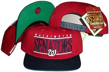Senadores de Washington rojo/azul marino de dos tonos gorra ...