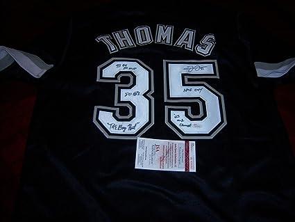 best website 16faa 1d76e Frank Thomas Autographed Jersey - Whitesox hof 2014 the Big ...