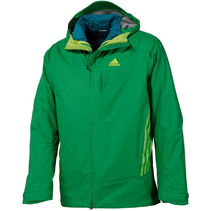 Amazon.com: adidas TS 3in1 CPS Jacket Prime Green/Still ...