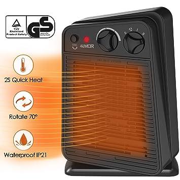 4umor Radiateur Ventilateur Soufflant Céramique Oscillant Economie