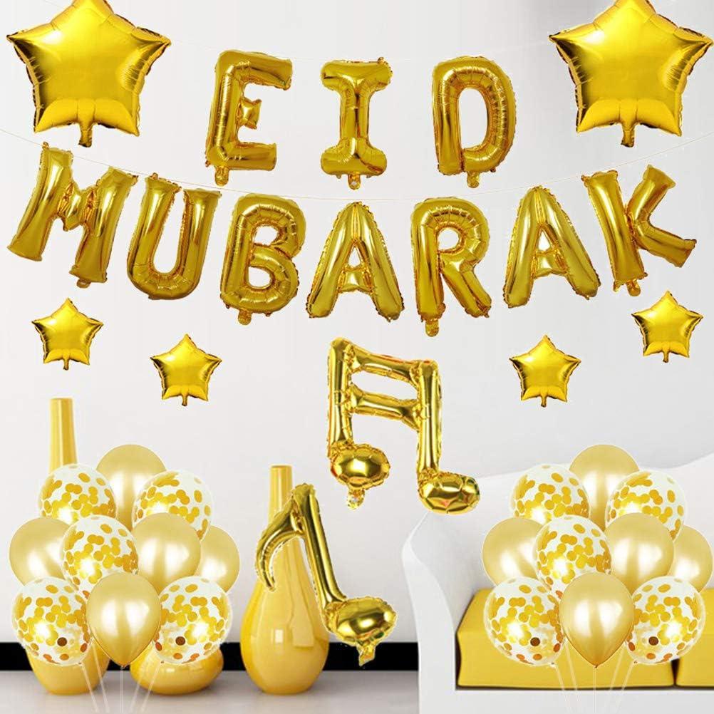 Eid Mubarak Party Balloon Set Letter Set Party Balloon Decoration Party Supplies