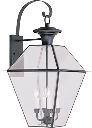 Livex Lighting 2386-04 Westover 4-Light Outdoor Wall Lantern, Black