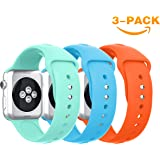 Apple Watch Bands 38mm 42mm,YaYuu Soft Silicone Watch Band Sport Replacement Wristband for Apple Watch 38mm Series 4,Series 3, Series 2, Series 1, Sport and Edition