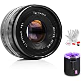 7artisans 50mm F1.8 Sony E Mount Prime Portrait Lens for Sony E-Mount APS-C Mirrorless Cameras - Manual Focus Fixed