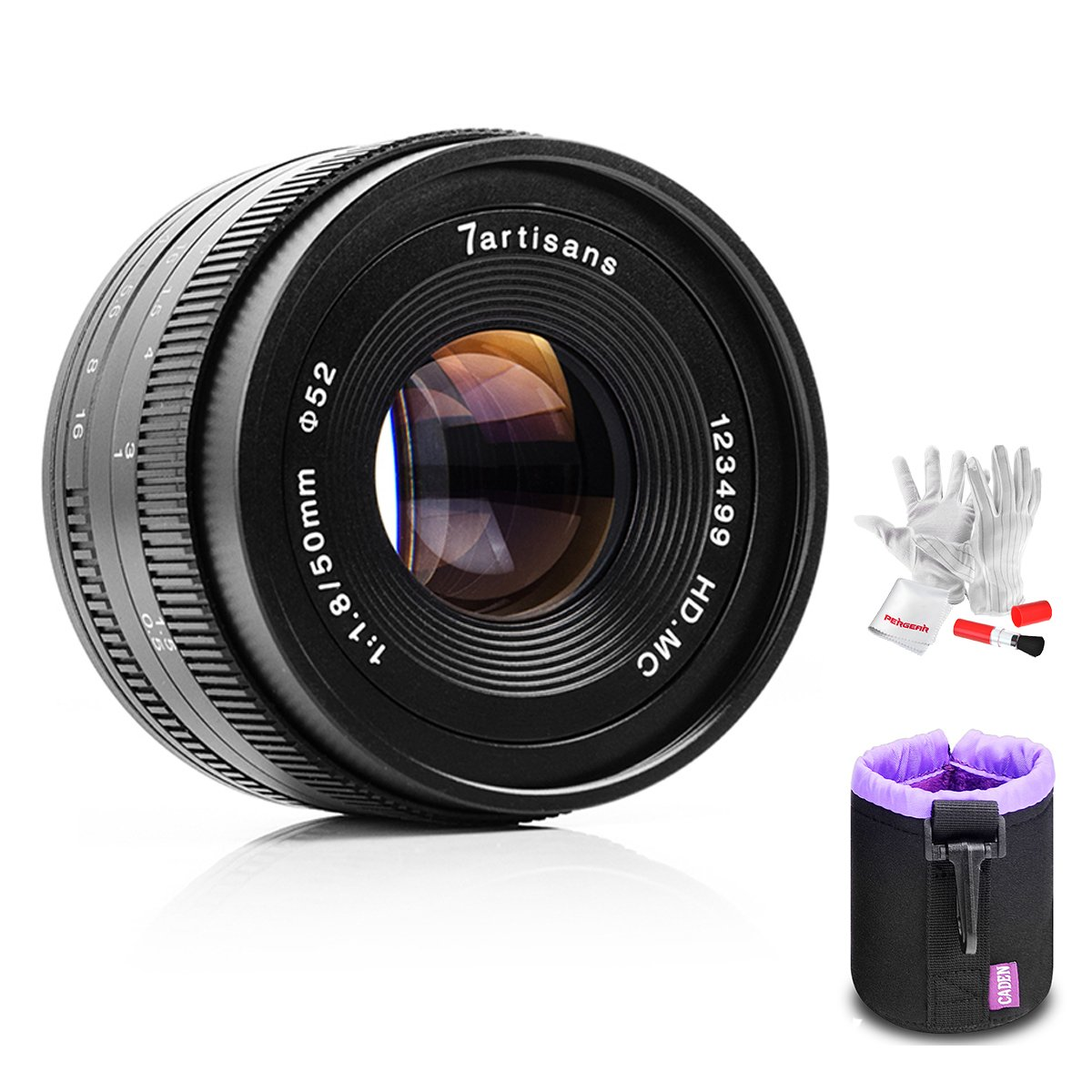 7artisans 50mm F1.8 APS-C Manual Fixed Lens for Olympus Panasonic Micro Four Thirds MFT M4/3 Mirrorless Cameras,Multi-Layer Coating,All Metal Body with Lens Bag, Pergear Cloth by 7artisans
