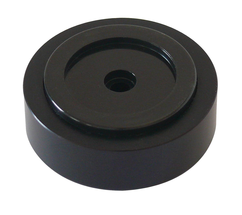 Dynavox 206383 - Pies de aluminio para dispositivos HiFi (4 unidades), color negro Sintron Vertriebs GmbH