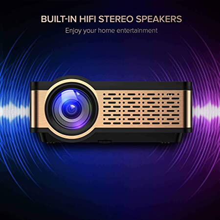 Ai LIFE Proyector Mini proyector de películas 720P con Altavoz de ...