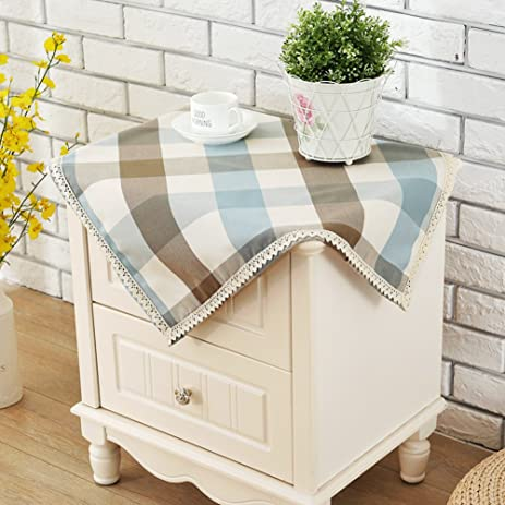 Nightstand Tablecloth European Bedroom Modern Simple Bedside Table Cloths  Use Small Square A 70x70cm(