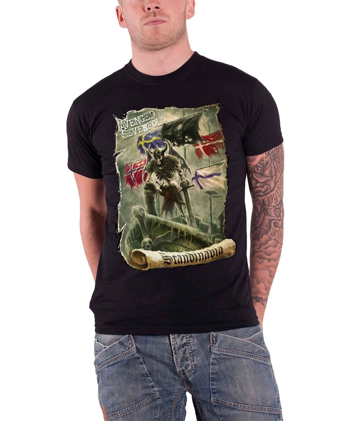 Avenged Sevenfold Scandinavia S T Shirt 8090