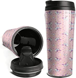 Ods Jdsd Coffee Cup Travel Mug Happy Unicorn Thermos Bottle Great for Travel