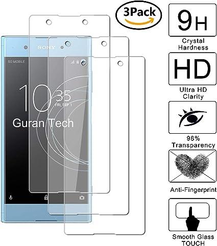 Guran [3-Unidades] Protector de Pantalla Vidrio Cristal Templado para Sony Xperia XA1 Plus (5.5pulgada) Smartphone Cristal Vidrio Templado Film (9H, 2.5D Edge, 0.3mm): Amazon.es: Electrónica