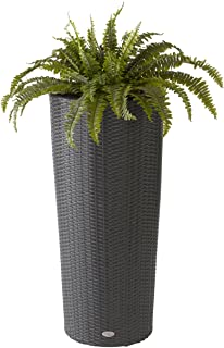 product image for DMC Products 78383 40-Inch Vista Round Resin Wicker Planter,Black