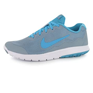Nike Flex Expert Experience 4 Running Shoes Womens Grey Blue Trainers  Sneakers (UK5. 4a105b564