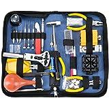 Deluxe - Kit per riparazione orologi apri strumenti regolabile Band pin di collegamento di Spring Bar Tool set (141pcs)