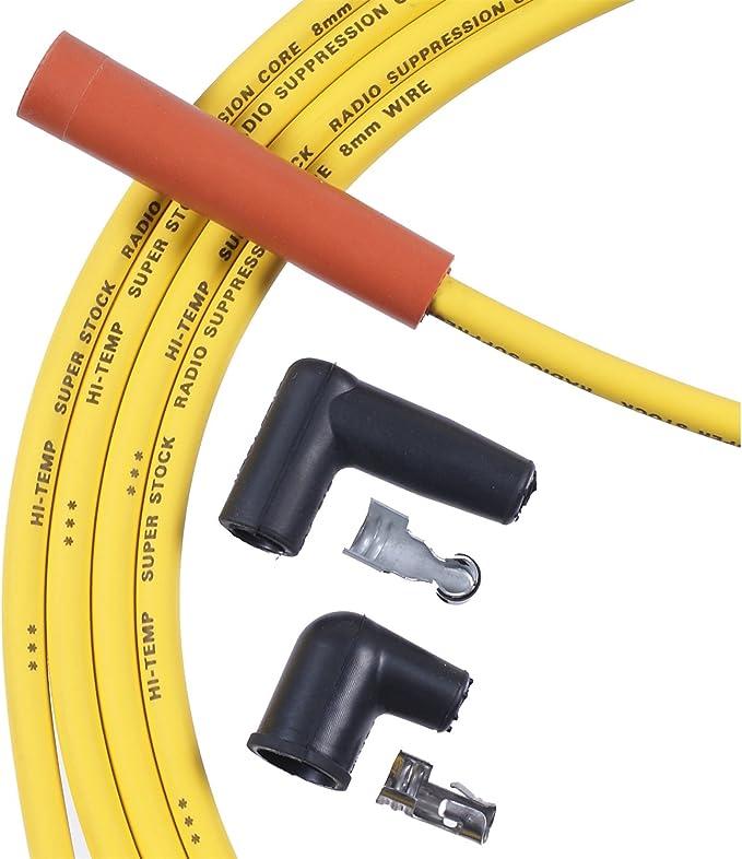Accel 5047Y Spark Plug Wire Set Yellow