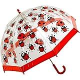 Bugzz – Parapluie transparent Fille – Modèle Coccinelle