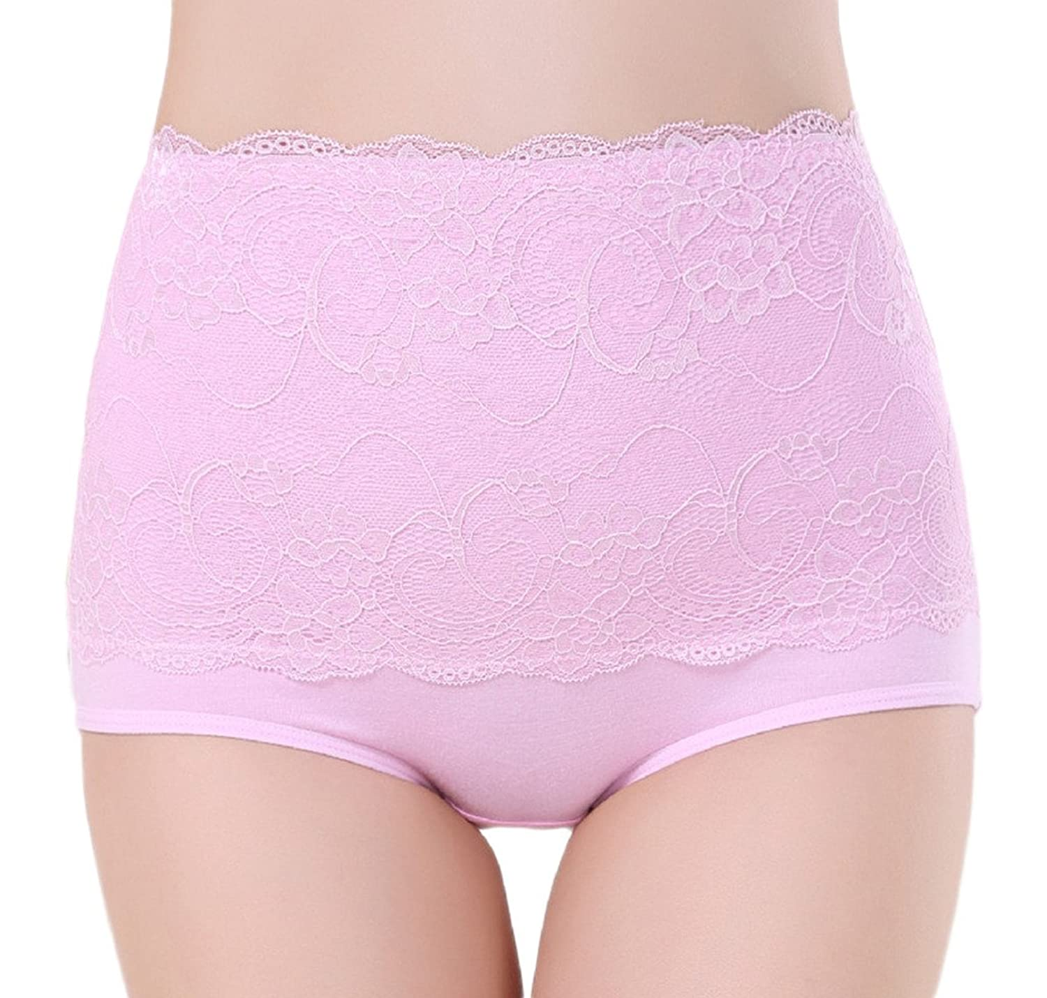 Smile YKK Women High-Waist Jacquard Seamless Cotton Underwear Briefs Knickers
