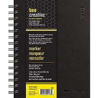 "Bee Paper Company BEE-20001 Creative Marker Book, 5-1/2"" x 8"", 5-1/2-inch x 8-inch, 50 Sheet Art Journal"