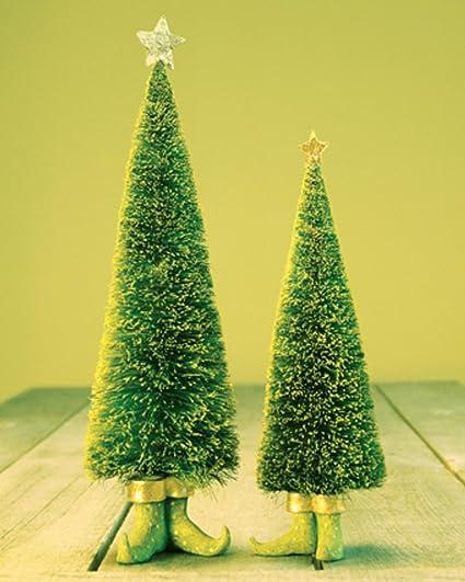 """Set of 2 Patience Brewster Krinkles Sisal Elf Christmas Trees 11"""" ... - Amazon.com: Set Of 2 Patience Brewster Krinkles Sisal Elf Christmas"""