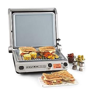 Klarstein Grand Gourmet Plancha 3 en 1 • Parrilla • Asador • Plancha • 2000 W • 160-230 °C • 28 x 23 cm de superficie de asado en aluminio • ...