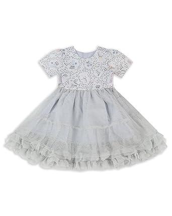 3c9eb3c3fa79a6 The Essential One - Bébé Enfant Fille Robe Occasion Spéciale Tutu - Argent  - 9-