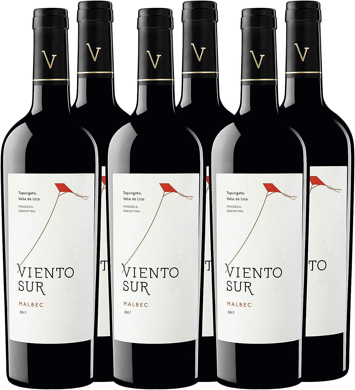 Viento Sur Malbec - Argentina, Mendoza, Valle de Uco, Tupungato, Gualtallery - Vino Tinto - pack de 6 de 750 ml - Total: 4500 ml: Amazon.es: Alimentación y bebidas