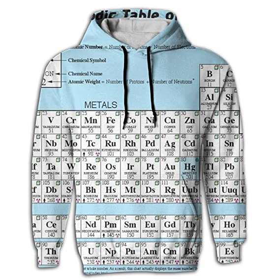 Amazon Simoner The Periodic Table Of Elements Mens Graphic 3d