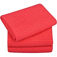 Sinland Microfiber Waffle Weave Kitchen Towels Dish Drying Towels Dish Cloths Assorted Colors