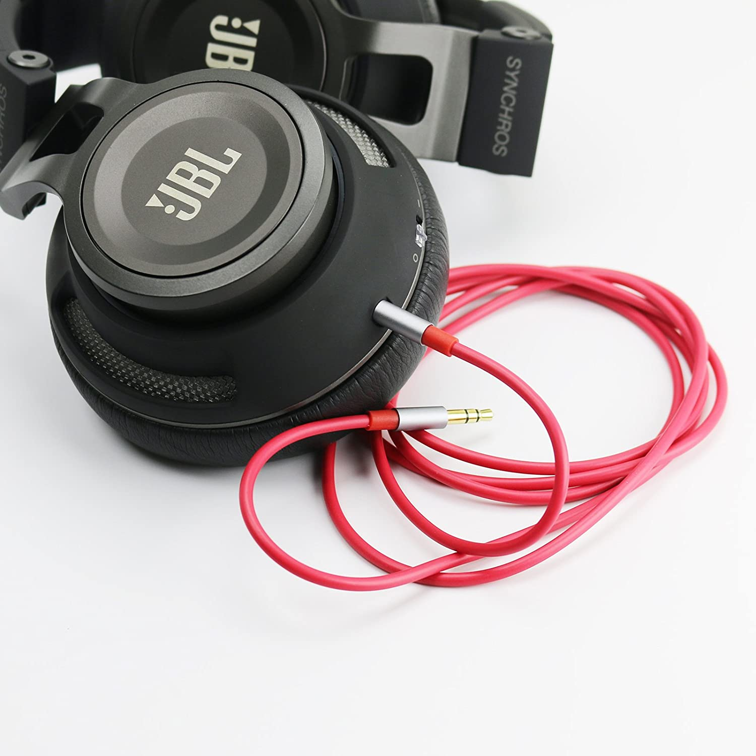 S700 J56BT S300a E40BT E50BT,S400BT Headphones Red 3meter//9.9ft S300I ABLET Audio Cable for JBL Synchros S700 S500 S400BT E30 E40 S300
