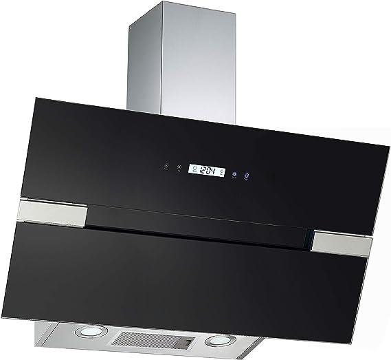 PKM S25-90ABTH - Cubierta de pared (cristal, 90 cm, iluminación LED, sin cabezal), color negro: Amazon.es: Grandes electrodomésticos