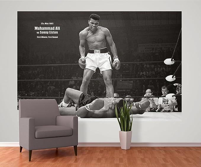 Photographic Wallpaper Muhammad Ali Vs Sonny Liston Size 158 CM X 229 2 Piece Amazoncouk Kitchen Home